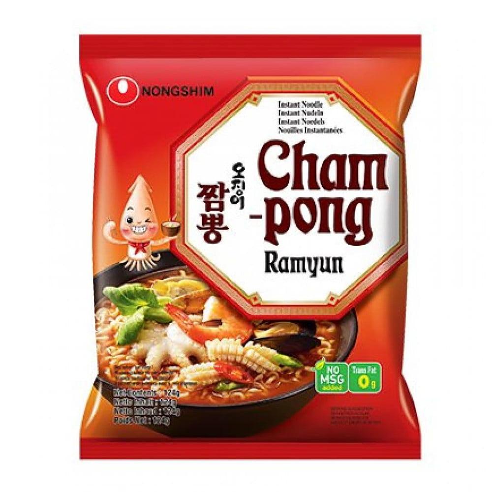 Lamen Coreano Champong Frutos do Mar Ramyun Noodle - 124 gramas