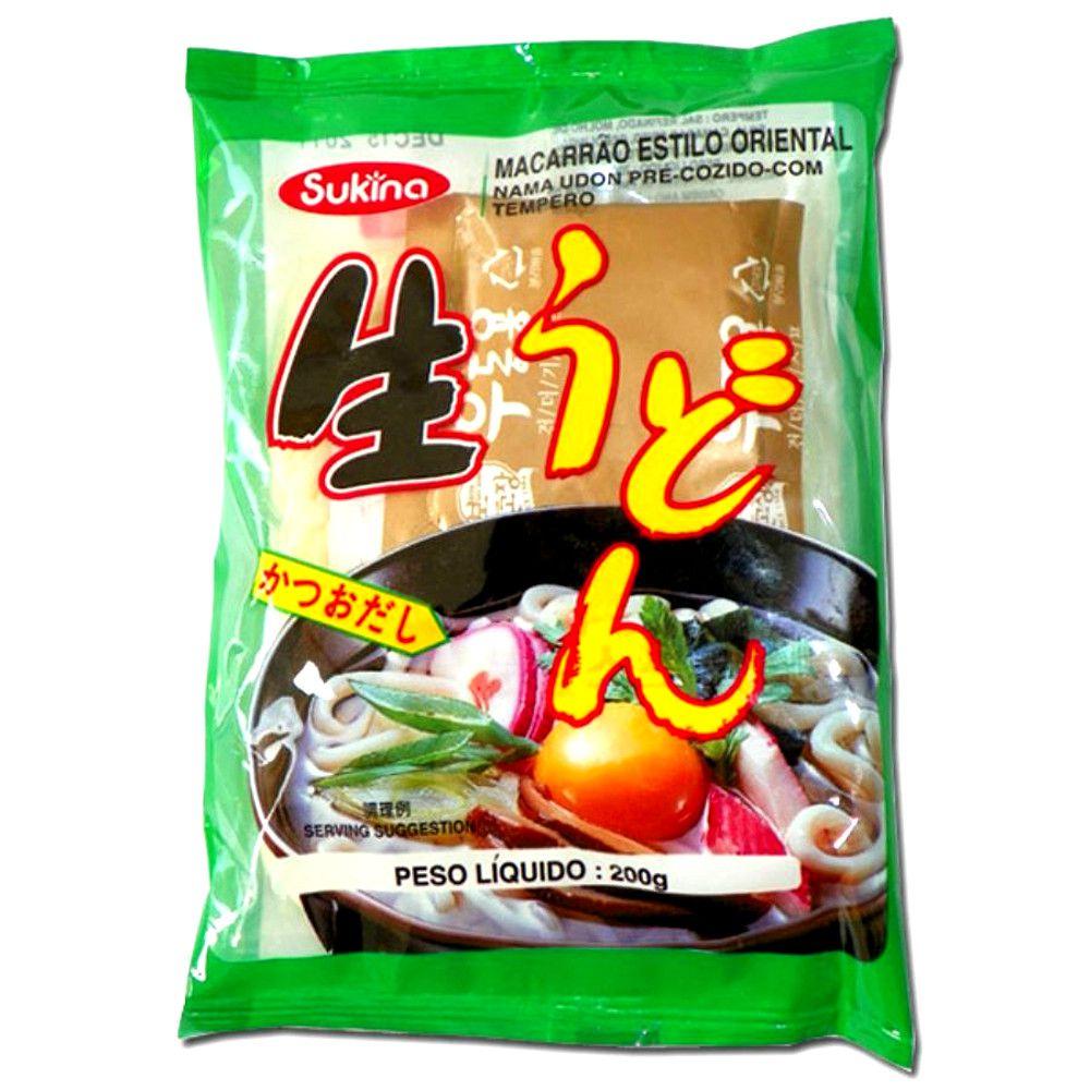 Macarrão Oriental Nama Udon Pré-Cozido com Tempero - 200 gramas