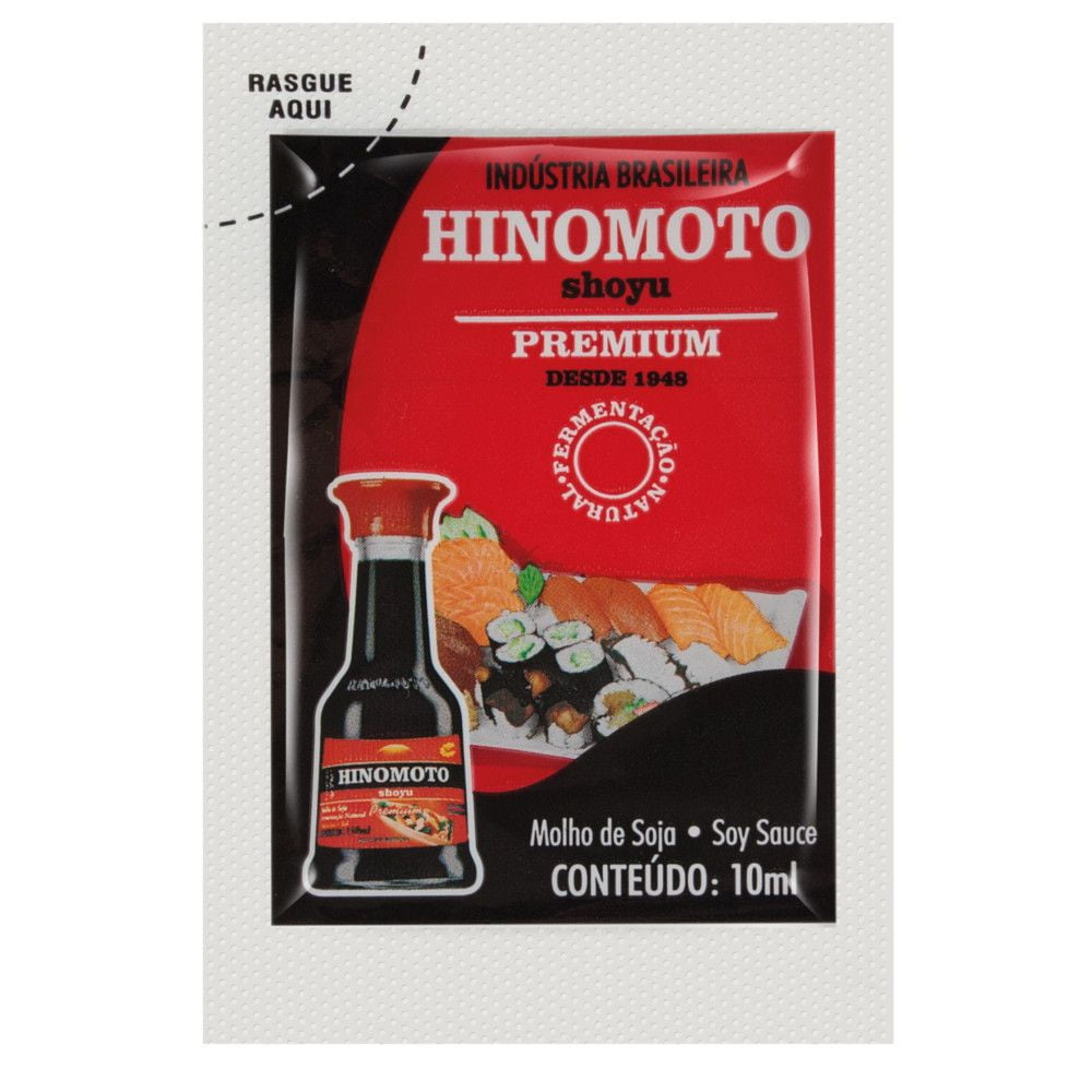 Molho de Soja Shoyu Hinomoto Premium Sachê (10 mL) - 250 unidades