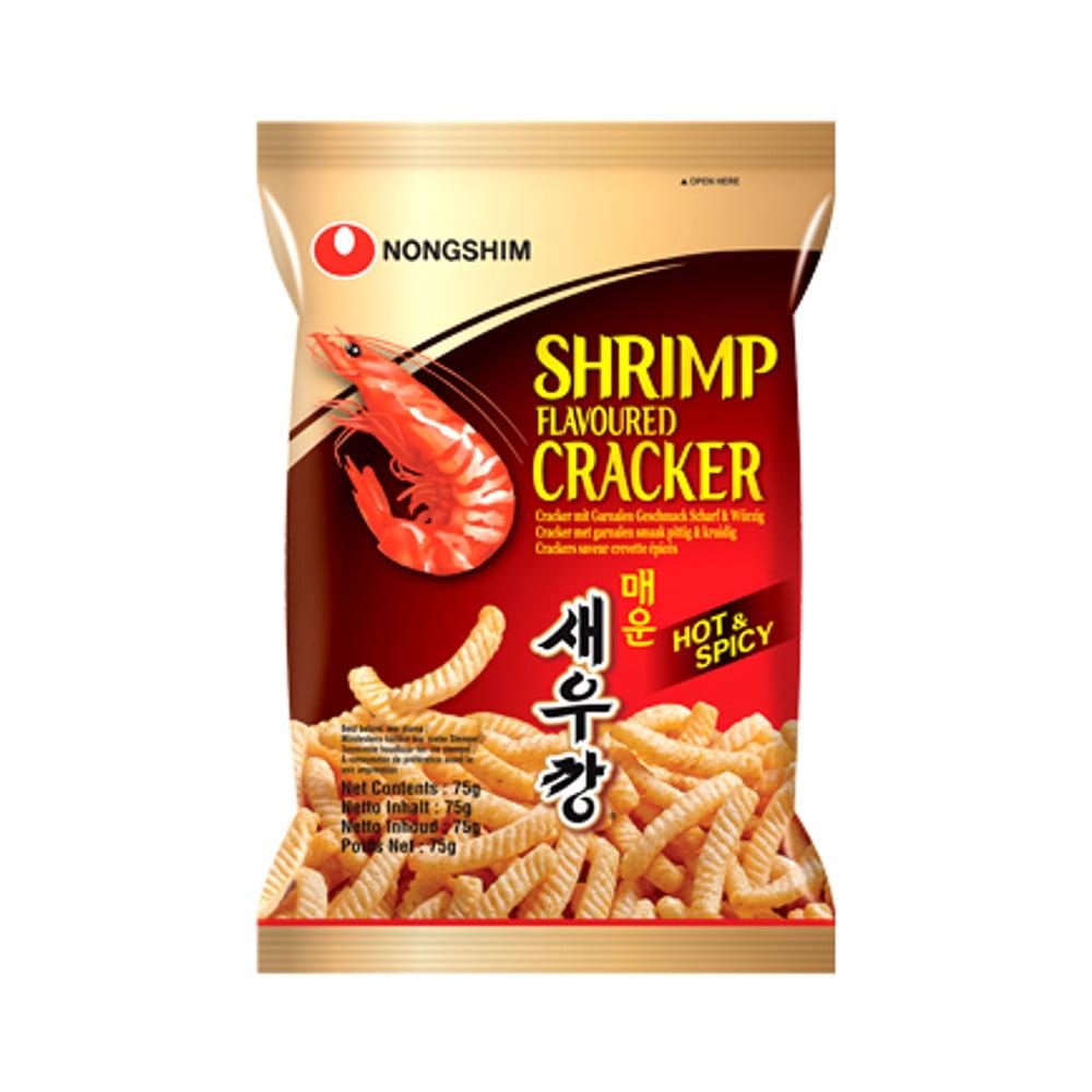 Salgadinho Importado Coreano Sabor Camarão Picante - Shrimp Flavoured Cracker 75 gramas