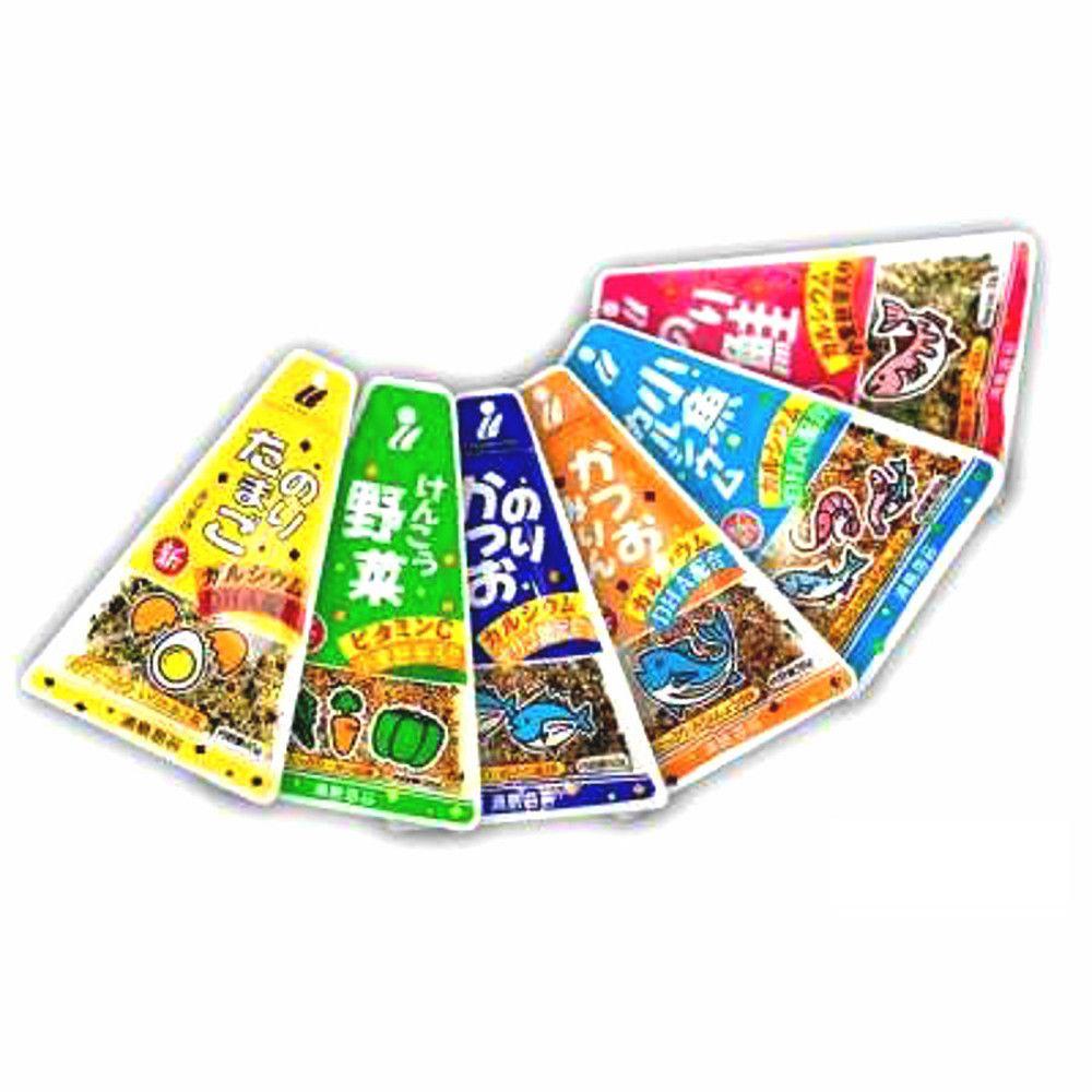 6 Pacotes de Tempero para Arroz Japonês Furikake - Diferentes Sabores
