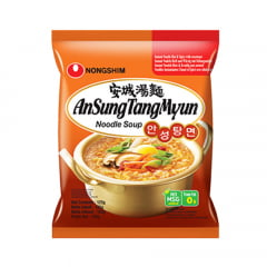 Caixa de Lamen Coreano AnSung Tang Myun Noodle Soup 125g - 20 pacotes