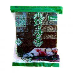 Alga Marinha Nori para Sushi e Temakis C/50 Folhas Yakinori Tenka Green - 140 gramas