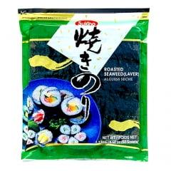 Alga Marinha Nori para Sushi e Temaki com 50 Folhas Sukina 125g