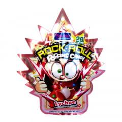 Bala Explosiva Sabor Lichia Rock Roll Popping Candy - 30 gramas