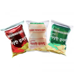 Kit Salgadinhos Coreanos (Coca, Soda, Yakult) - 3 Unidades