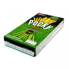 Pocky Biscoito Palito  Sabor Matcha Chá Verde Glico - 39 gramas