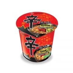 Lamen Coreano Shin Ramyun Picante Carne e Legumes Copo 68g