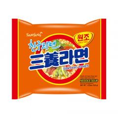 Lamen Coreano Sabor Carne & Vegetais Picante Samyang Ramyun - 120g