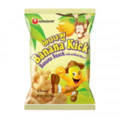 Salgadinho Importado Coreano de Milho Sabor Banana Kick - 45 gramas