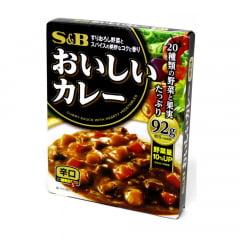 Karê Pronto Curry Sauce Sabor Picante nível Forte Hot S&B - 92 gramas