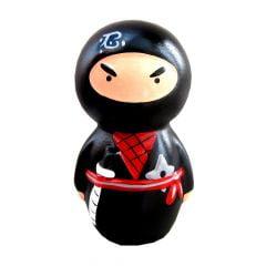 Boneco Ninja Cofre - Preto