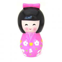 Cofre formato Boneca Japonesa Kokeshi - Rosa