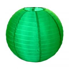 Luminária Oriental Verde Escuro Nylon - 40 cm