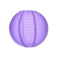 Luminária Oriental Roxa Nylon - 25 cm
