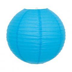 Luminária Oriental Azul Lisa - 40 cm