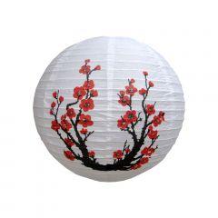 Luminária Oriental Branca Sakura - 30 cm
