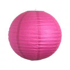 Luminária Oriental Rosa Pink Lisa - 35 cm