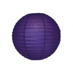 Luminária Oriental Roxa Lisa - 30 cm