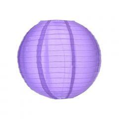 Luminária Oriental Roxa Nylon - 30 cm