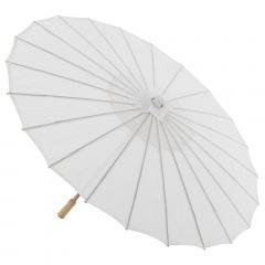 Sombrinha Oriental Branca Lisa Nylon - 83 cm