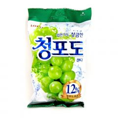 Bala Coreana Sabor Uva Verde Lotte - 119 gramas