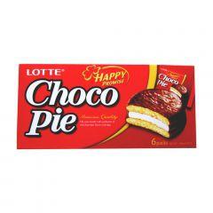 Bolinho de Chocolate Choco Pie Lotte 168 Gramas - 6 unidades