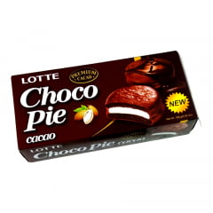 Choco Pie Bolinho de Chocolate Premium Cacau Lotte 168 Gramas - 6 unidades