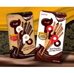 Kit Biscoito Palito Japonês ToPPo Lotte - 2 Sabores
