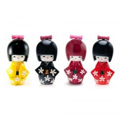 Kit Boneca Kokeshi Madeira Japonesa Chinesa Gueixa -  4 Unidades