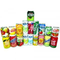 Kit de Bebidas Sucos e Refrigerantes Coreanos - 19 Sabores