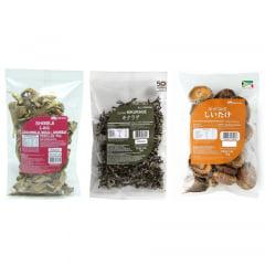 Kit de Cogumelos Orientais Desidratados - 3 Modelos