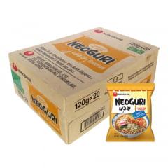 Caixa de Lamen Coreano Neoguri Suave Sabor Frutos do Mar 100g - 20 pacotes