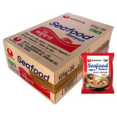 Caixa de Lamen Coreano Seafood Sabor Picante e Frutos do Mar 125g - 20 pacotes