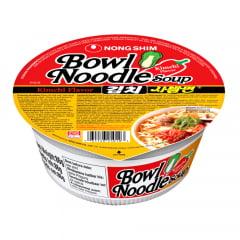 Lamen Coreano Bowl Noodle Kimchi Picante Carne e Legumes Copo -  86 gramas