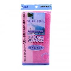 Toalha de banho Japonesa Rosa em Nylon - Bucha
