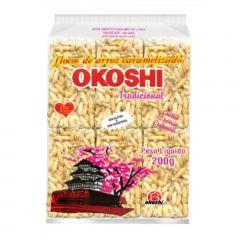 Okoshi Tradicional Flocos de Arroz Caramelizado - 200 gramas