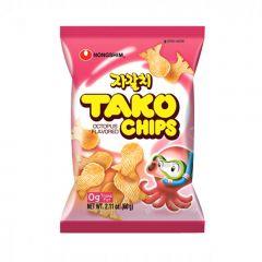 Salgadinho Importado Coreano Sabor Polvo - Tako Chips 60 gramas