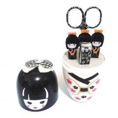 Kit para Manicure Kokeshi com 5 Peças - Branco