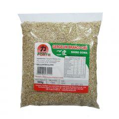 Gergelim Branco Cru Goma Shiro Casa Forte - 500 gramas