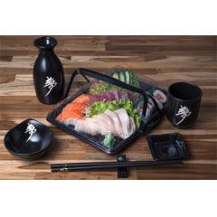 Embalagem Plástica Combinado 04 para Servir Comida Japonesa - 100 unidades