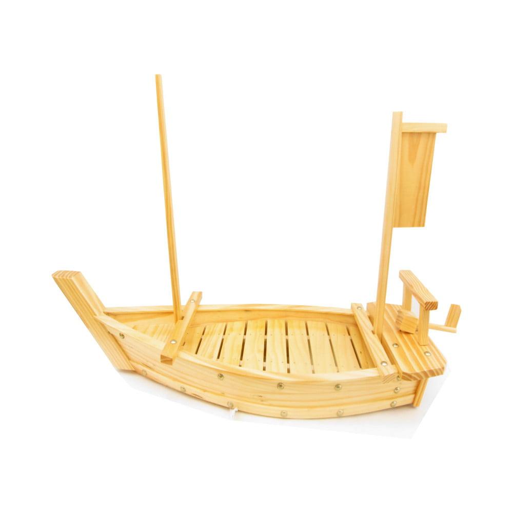 Barco para servir Sushi Sashimi de Bambu - 50 cm