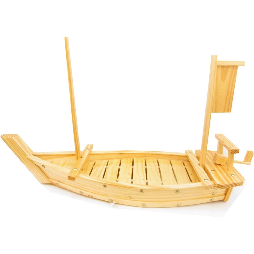 Barco para servir Sushi Sashimi de Bambu - 70 cm