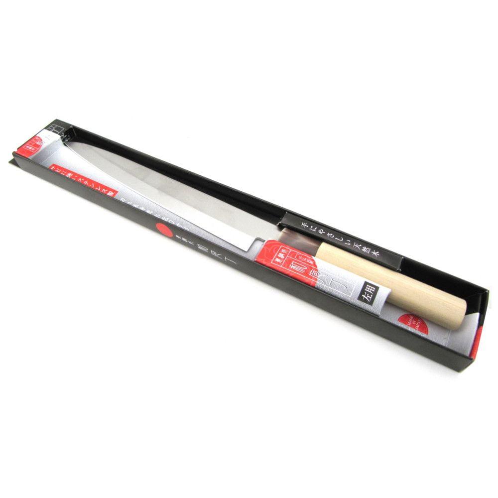 Faca Japonesa para Sushi e Sashimi Aço Inoxidável Shimomura Lâmina 21 cm - Canhoto