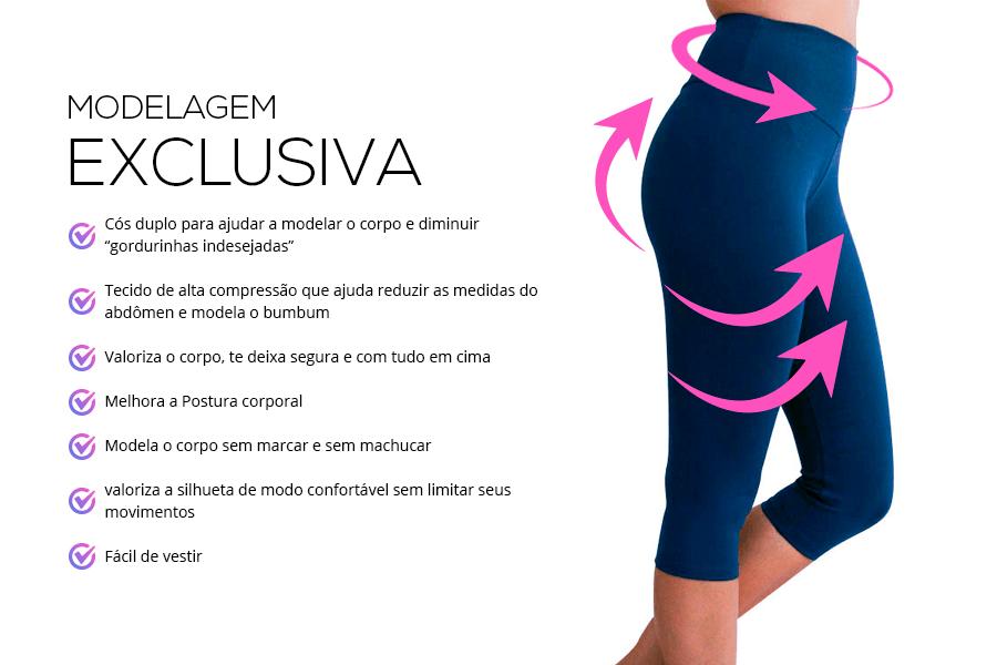 kit 3 calças corsário modelagem exclusiva