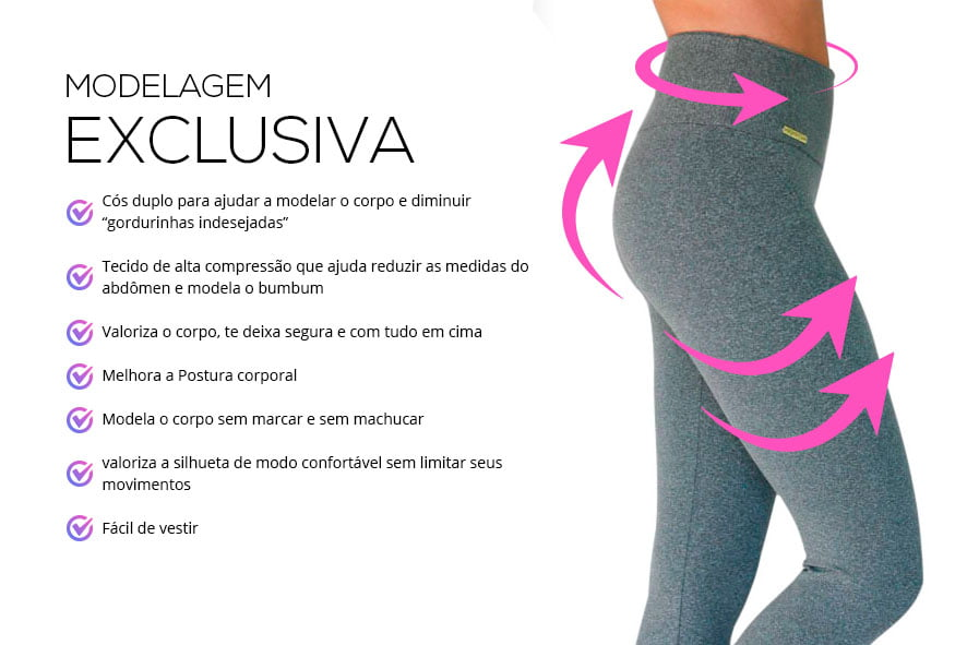 Kit 4 Leggings básica Monnieri modelagem exclusiva