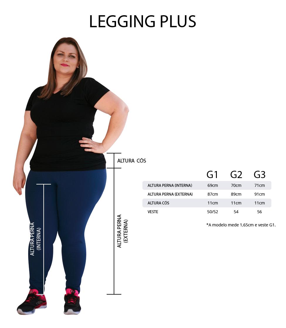 kit legging plus size tamanhos e medidas