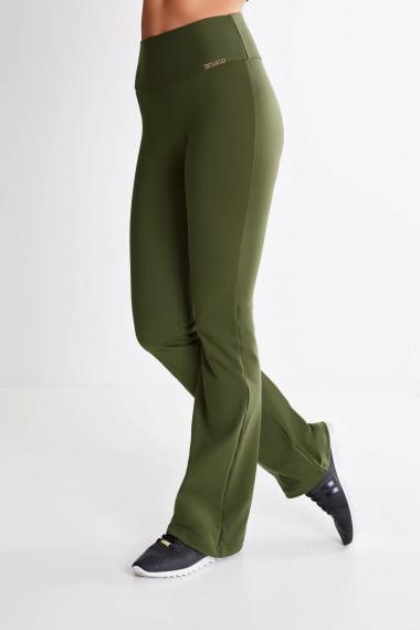 Calça Bailarina Verde Militar Mulheres Altas - Comprimento Personalizado