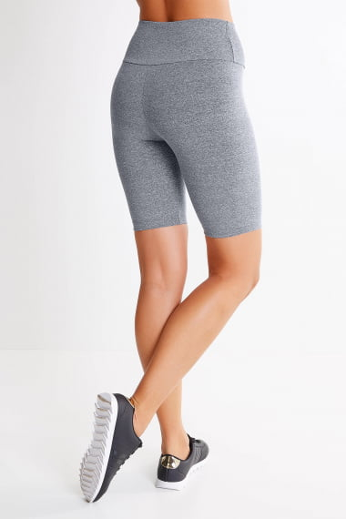 KIT 3 BERMUDAS FITNESS FEMININA PLUS SIZE