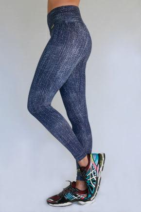 Calça Legging Estampada Jeans